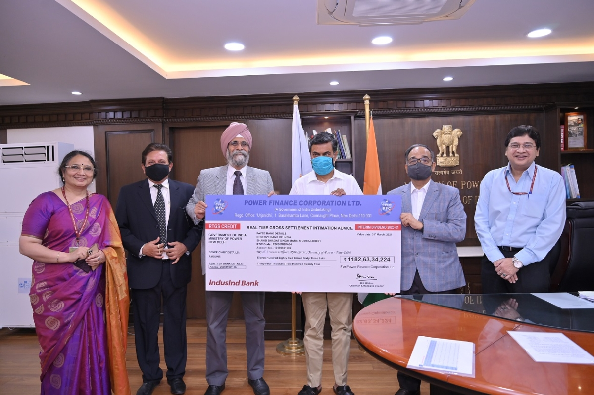 PFC pays interim dividend of Rs 1182.63 crore to GOI for FY 2020-21