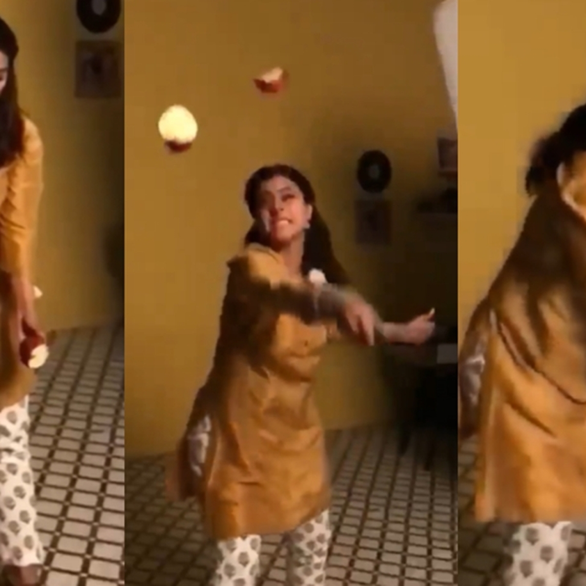 Netizens call out Kajol for 'wasting food' while playing real-life 'fruit ninja' – watch video