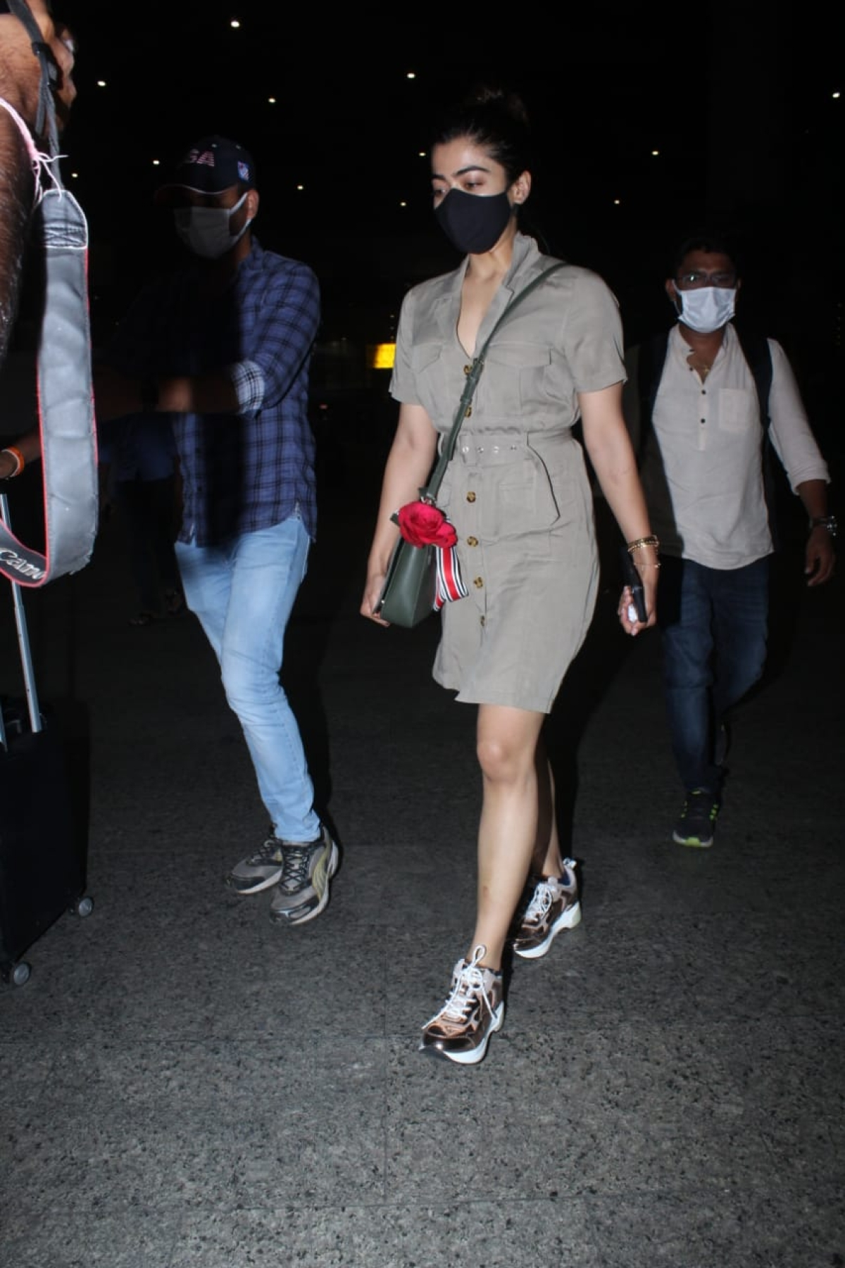 In Pics: Janhvi Kapoor, Govinda, Rashmika Mandanna and others spotted at Mumbai airport