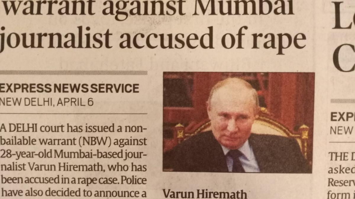 Instead of rape accused, newspaper publishes Russian President Putin's picture; Twitterati poke fun