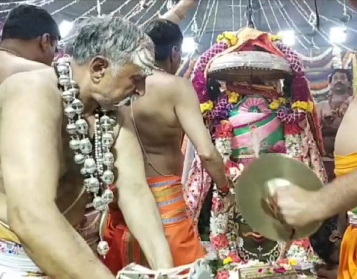 Deceased priest Pt Chandra Mohan Pujari