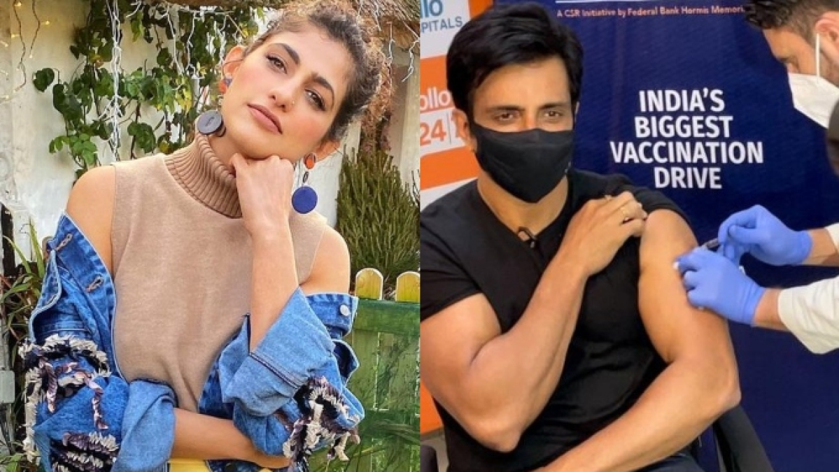 Amid shortage, Kubbra Sait says 'leave it to Sonu Sood to vaccinate India'