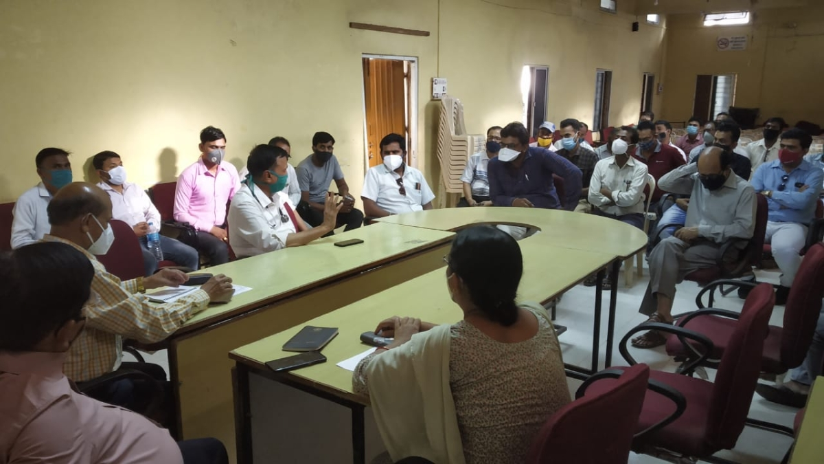 Meeting with diploma holding doctors in Sardarpur on Friday