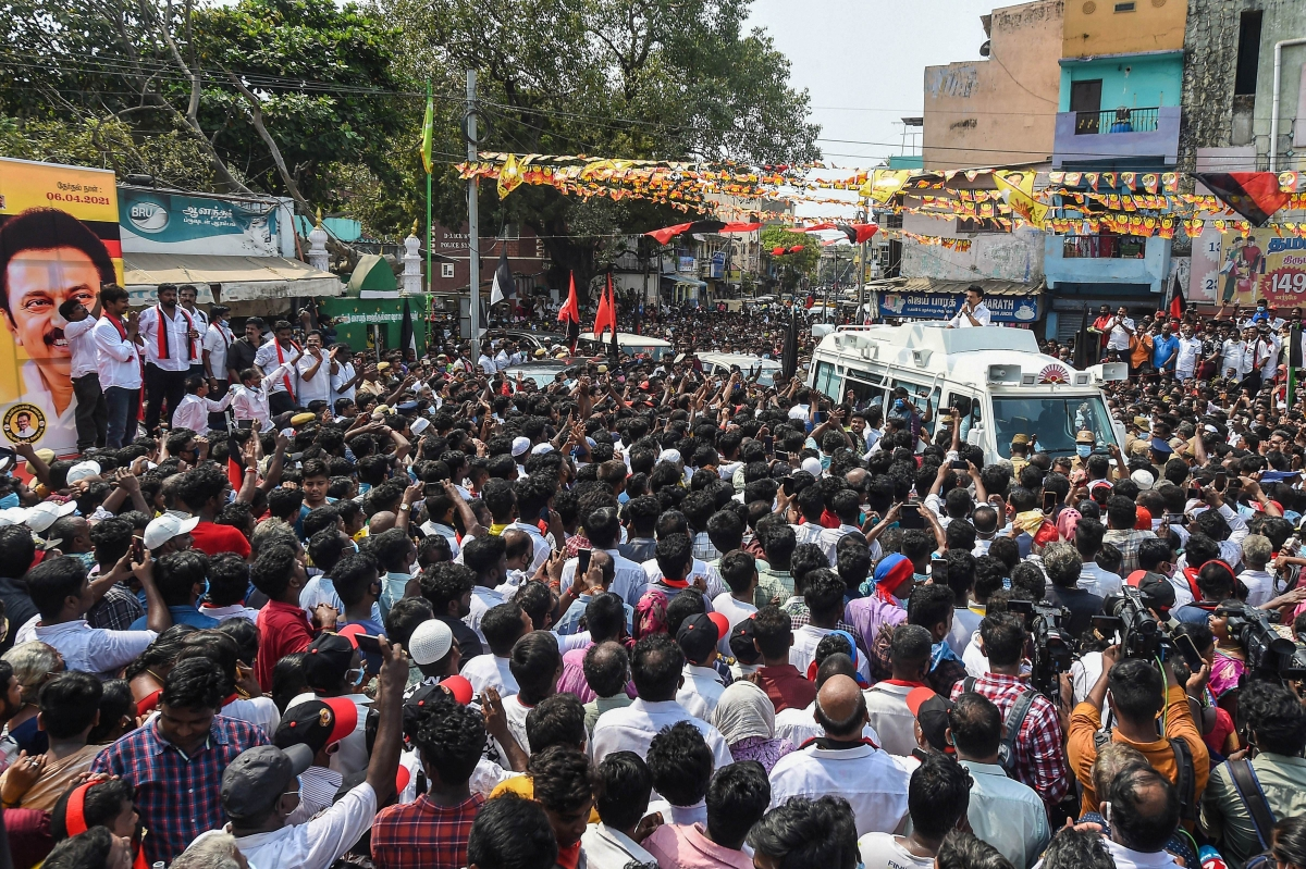 High-voltage election campaign ends in Tamil Nadu, Puducherry; polls to be held on April 6