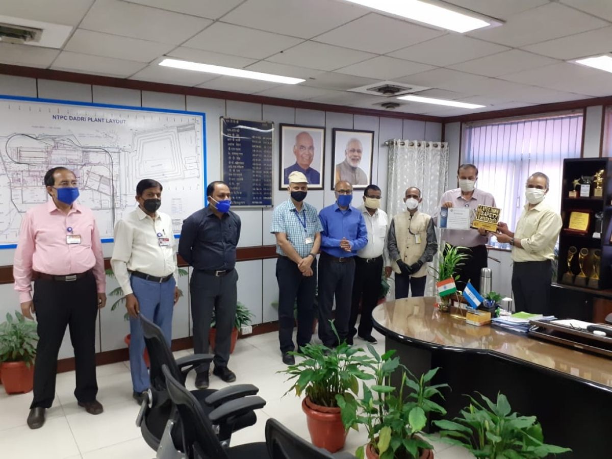 NTPC Dadri bags Platinum award for occupational health & safety