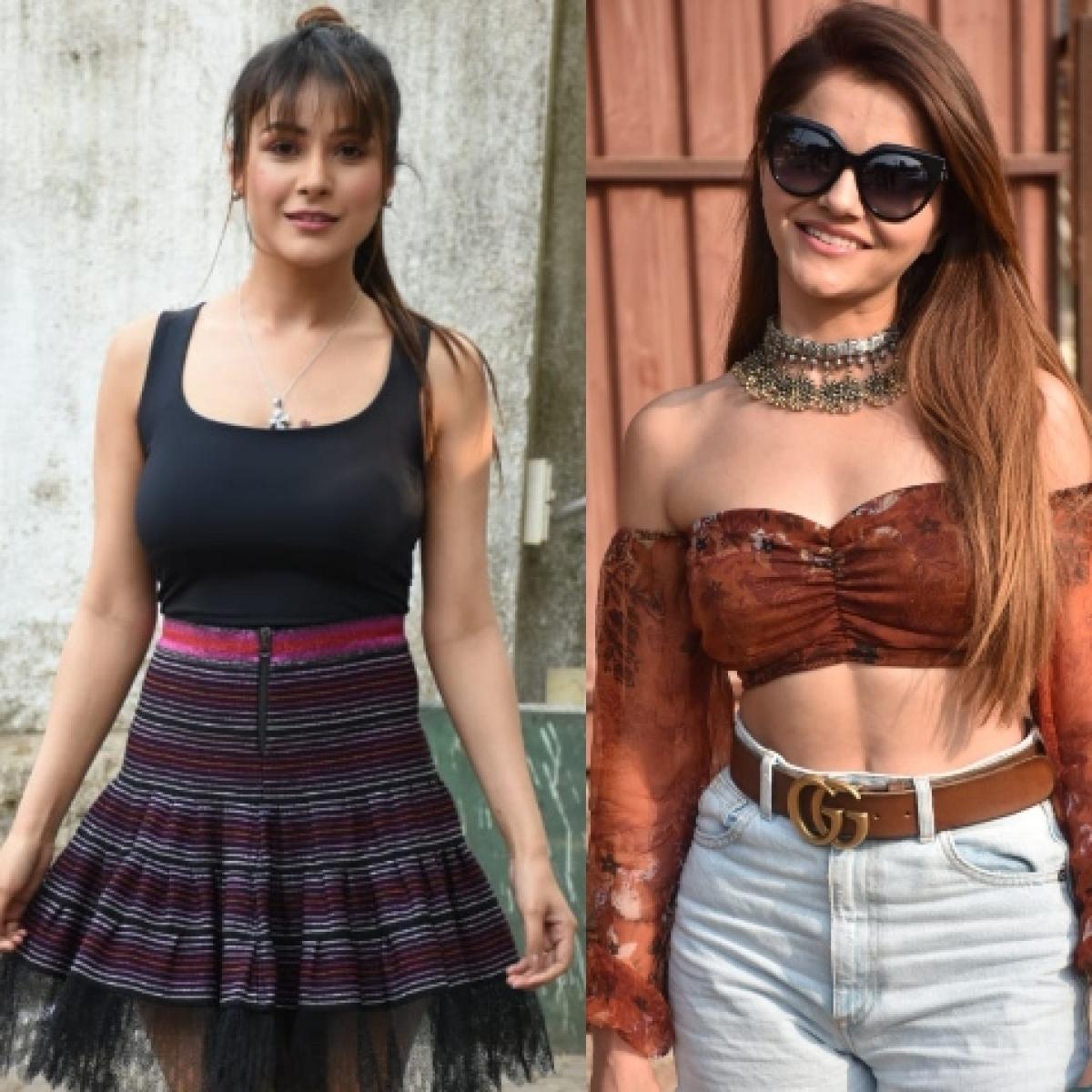 Paparazzi Files: 'Bigg Boss' beauties Shehnaaz Gill, Rubina Dilaik, Hina Khan and others spotted in Mumbai