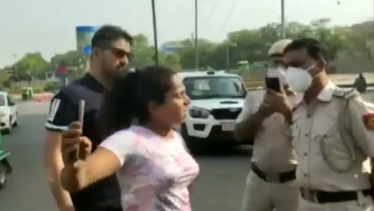 Delhi couple misbehave with police after being stopped for not wearing mask inside car