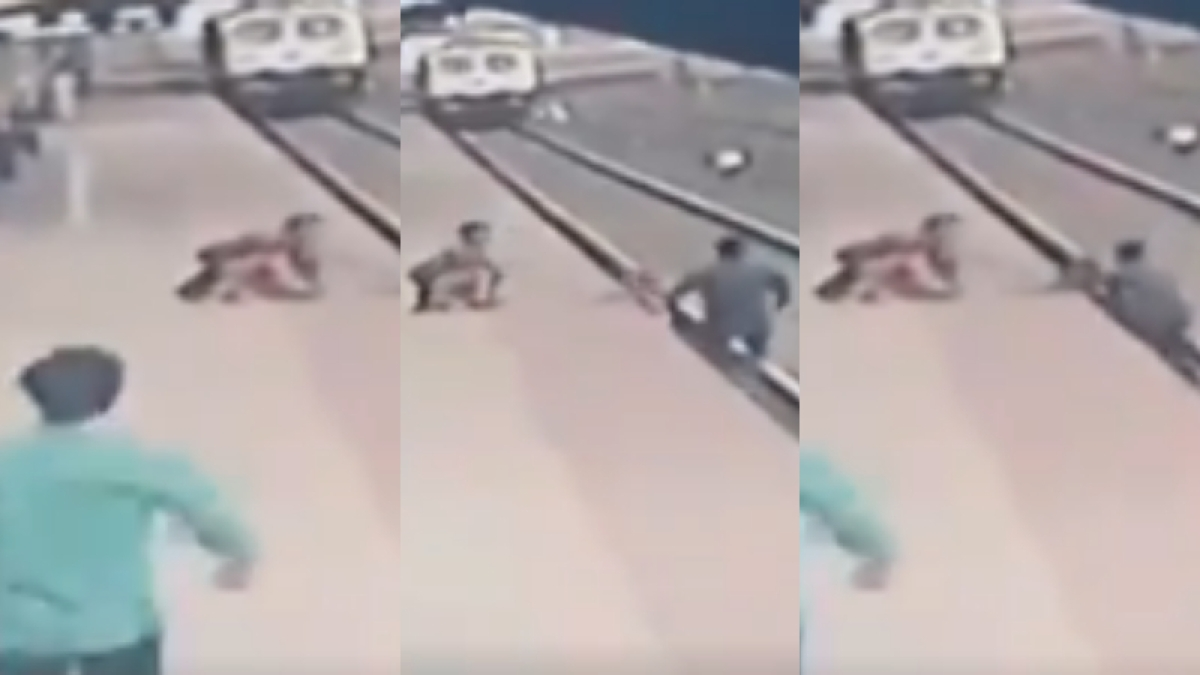 Mumbai: Pointsman Mayur Shelke saves life of child who fell on railway tracks - Watch video