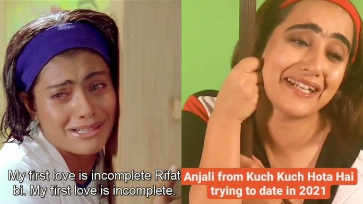 Anjali Sharma trying to date in 2021: Kusha Kapila's 'Kuch Kuch Hota Hai' spoof leaves Karan Johar in splits