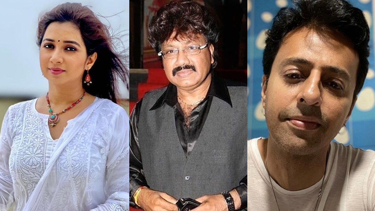 L to R - Shreya Ghoshal, Shravan Rathod, Salim Merchant
