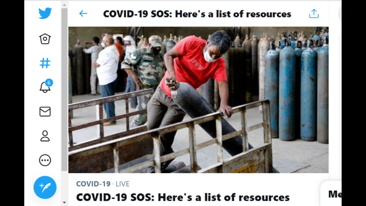 Twitter's 'COVID-19 SOS' page provides list of medical resources in real-time; here's how to access it