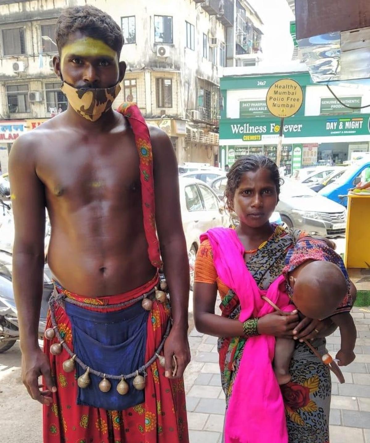 Chabukwala Nagesh with wife and son