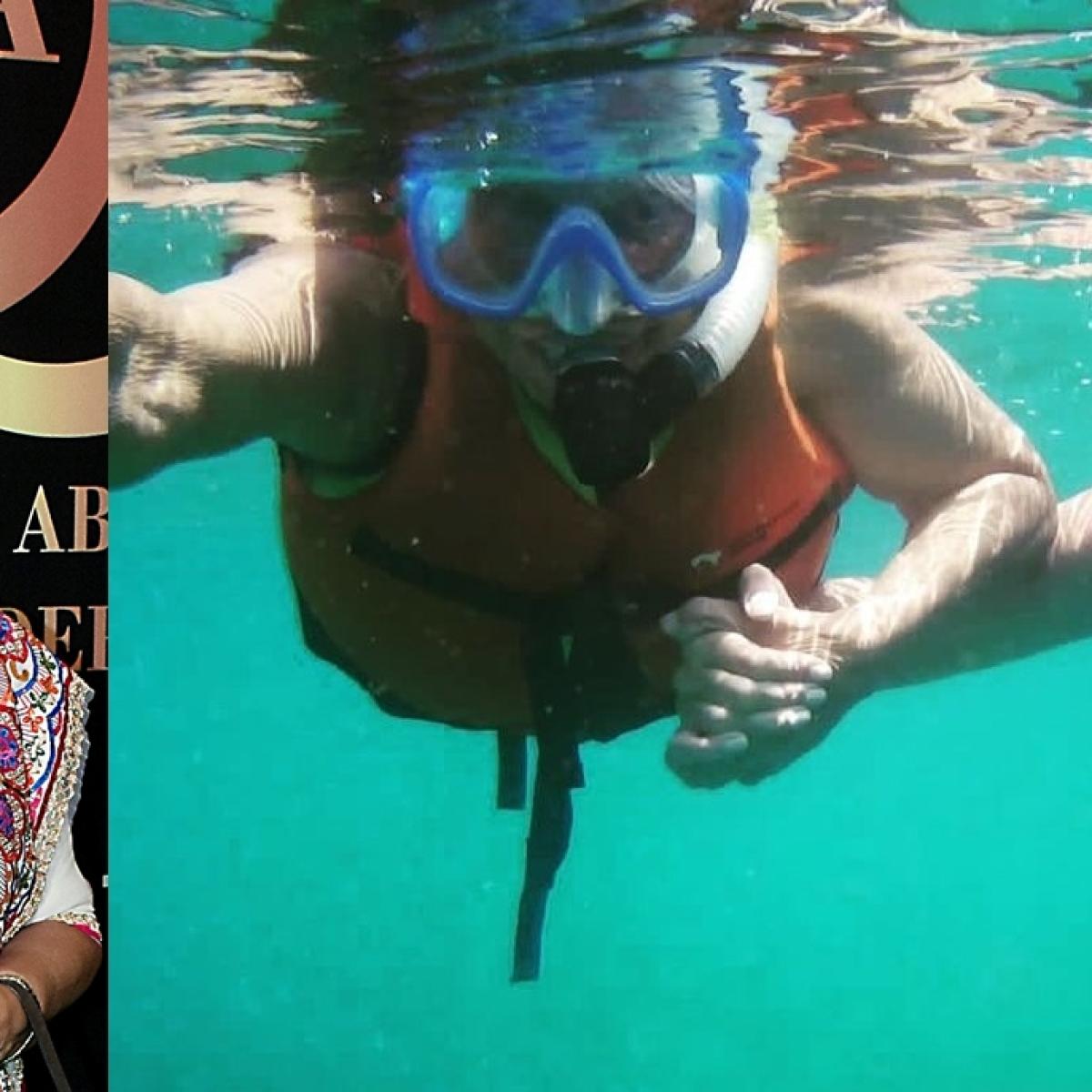 Waheeda Rehman, 83, goes snorkeling with daughter Kashvi at Andaman Islands