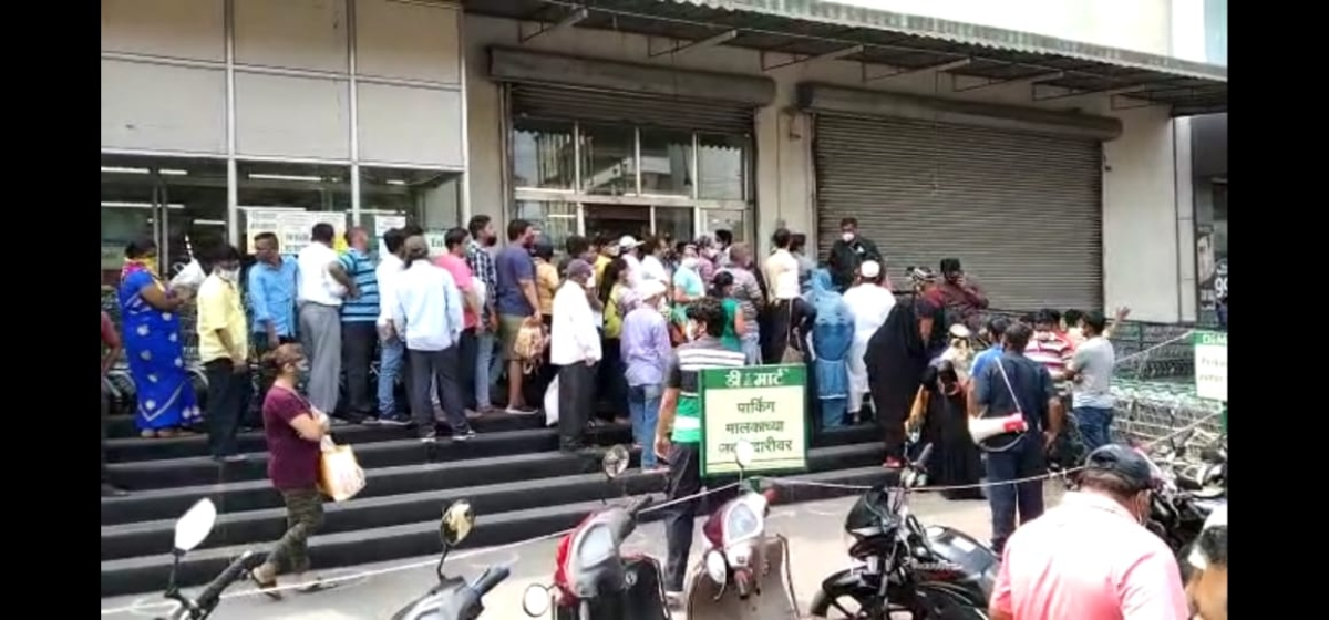 Mumbai: Wary public goes in panic buying mode