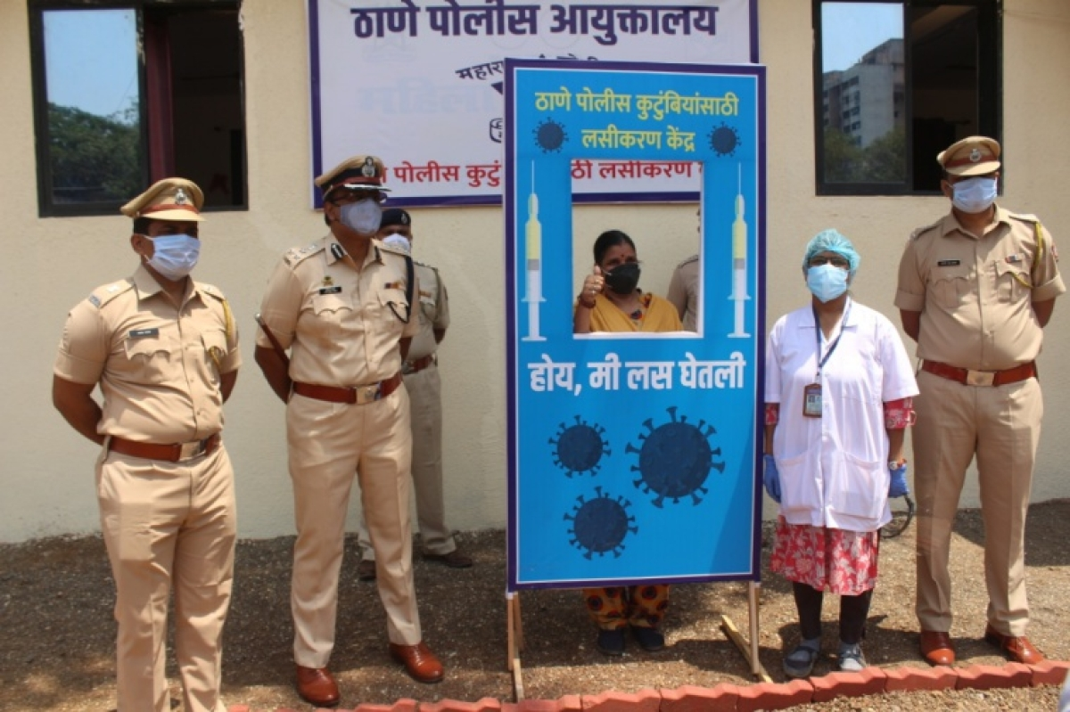 COVID-19: Thane police start vaccination drive for families of cops; may speed up drive if civic body provides more doses