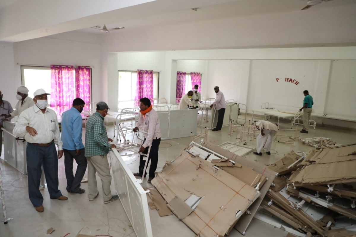 Madhya Pradesh: Nursing college of Dewas district hospital to get 200-bed Covid Care Center with 100 beds