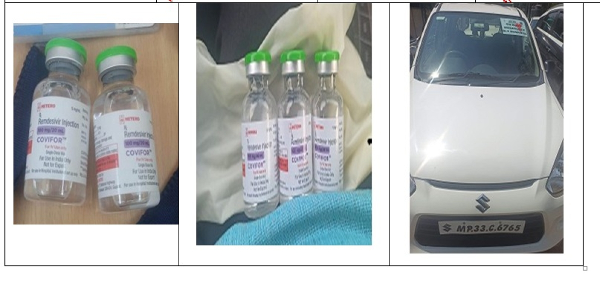 Remdesivir injections and the car in which the accused were travelling