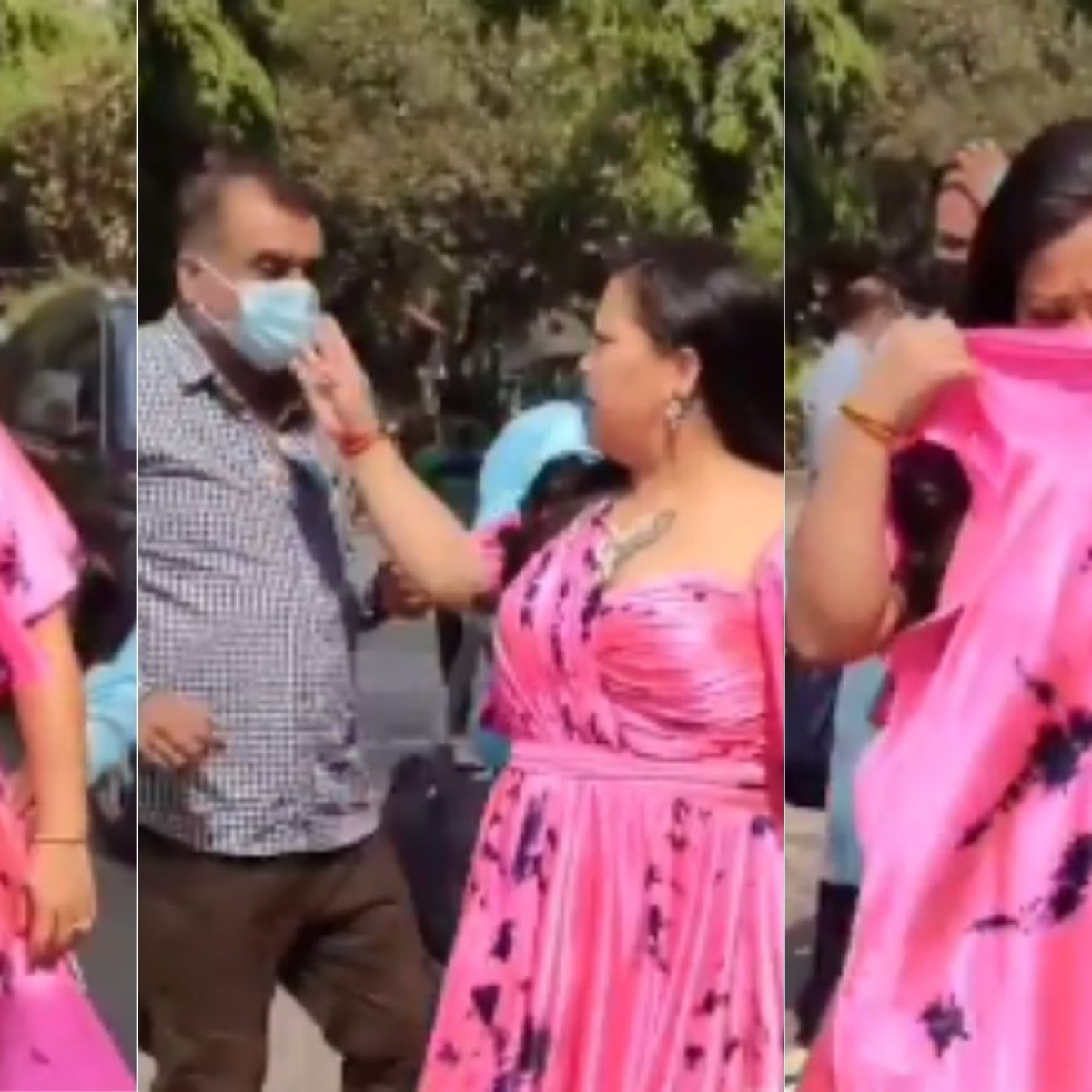 Watch: Bharti Singh asks man to wear a mask, realizes she isn't wearing one!