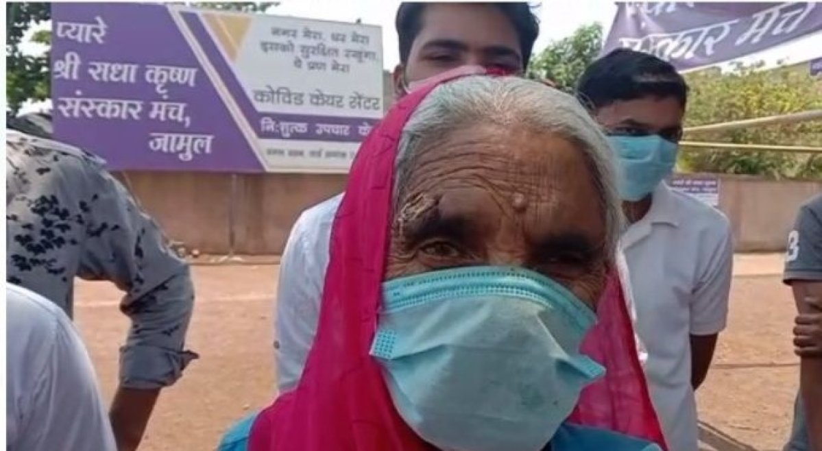 Chhattisgarh: Admitted in COVID-19 centre run by charitable trust, 92-year-old returns home after defeating virus