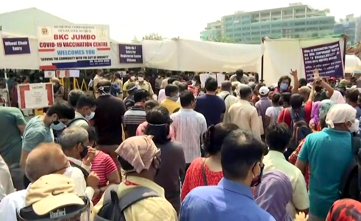Mumbai: Chaos at BKC vaccination centre
