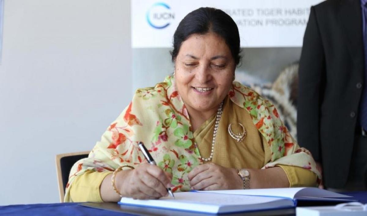 Nepal President Bidhya Devi Bhandari