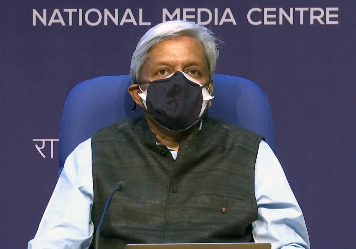 New Delhi, May 07 (ANI): Principal Scientific Advisor to Centre K. VijayRaghavan addresses during a media brief on Covid19 situation, in New Delhi on Friday.