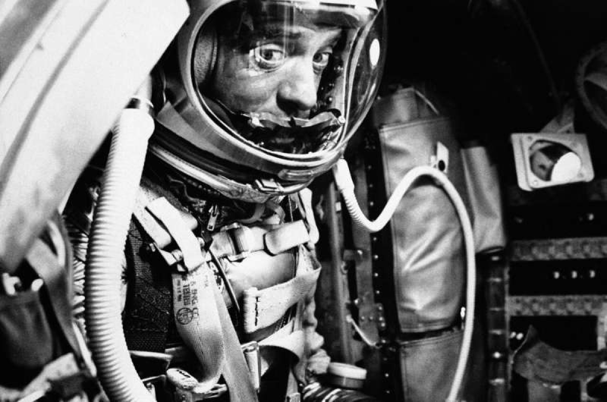 In this May 5, 1961 file photo, astronaut Alan Shepard sits in his capsule at Cape Canaveral, Fla., aboard a Mercury-Redstone rocket.