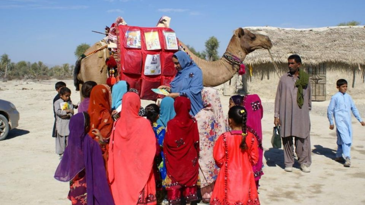 'Camel Library project': How Roshan the camel is helping kids in rural Balochistan study from home