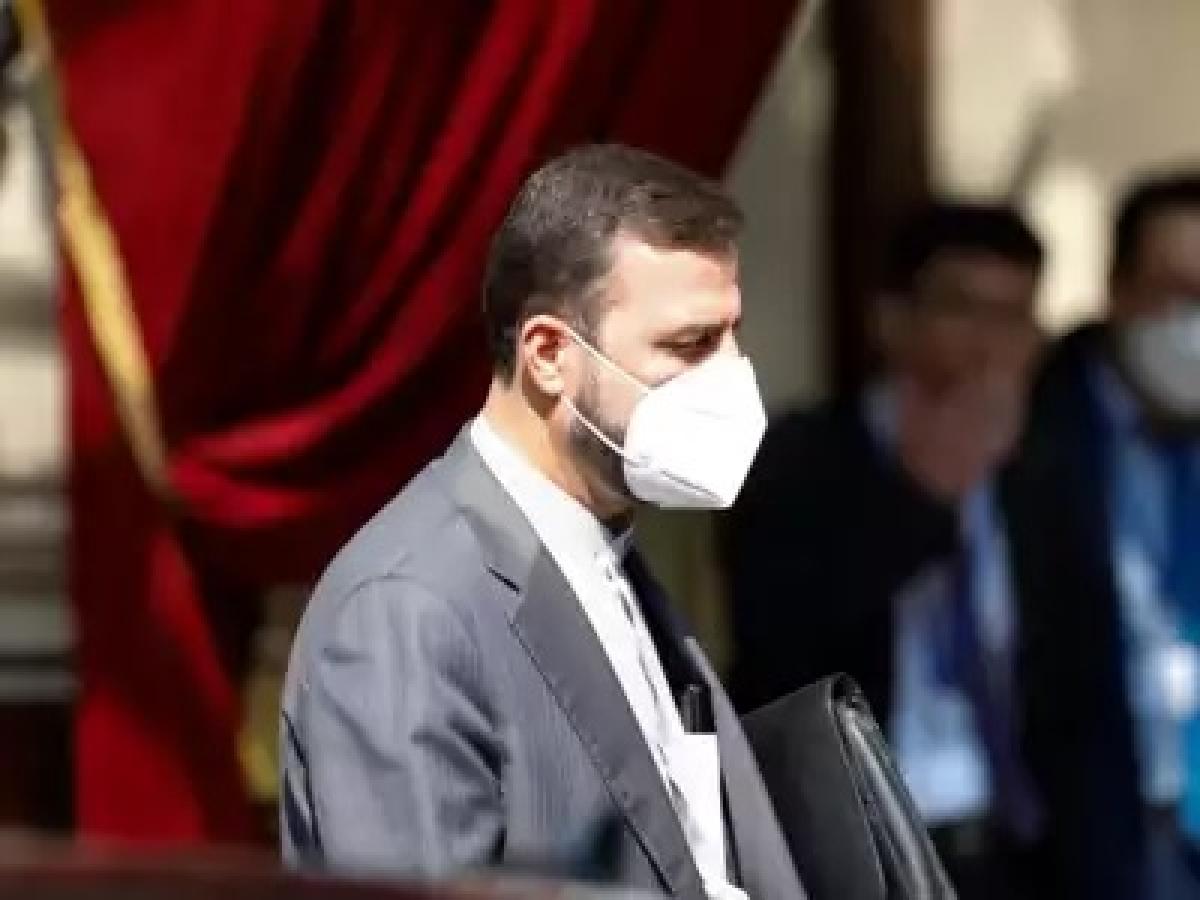 Iran's Governor to the International Atomic Energy Agency, IAEA, Kazem Gharib Abadi leaves the 'Grand Hotel Vienna' where closed-door nuclear talks take place in Vienna, Austria.
