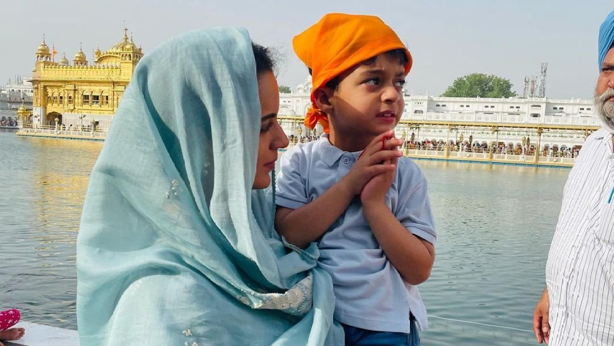 Kangana Ranaut visits Golden Temple for the first time, says 'speechless and stunned by its beauty'