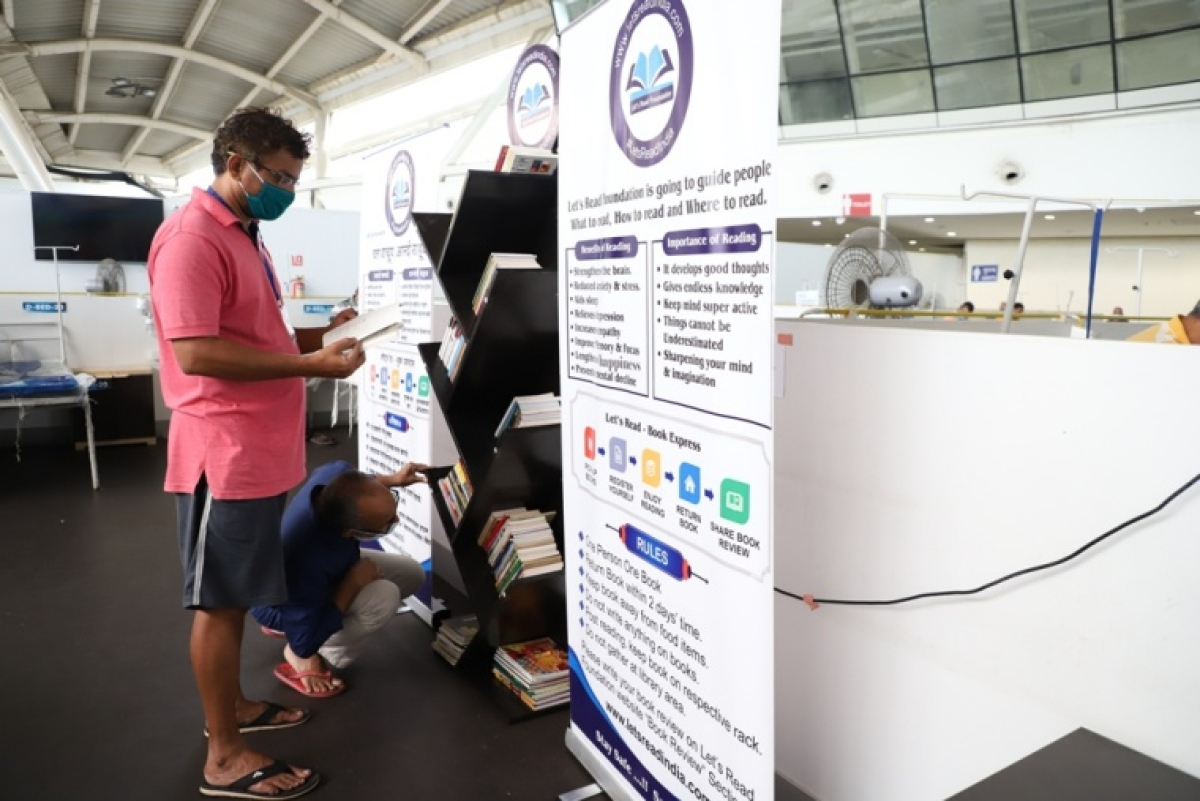 Navi Mumbai: NMMC sets up a library for patients at Vashi COVID-19 care centre