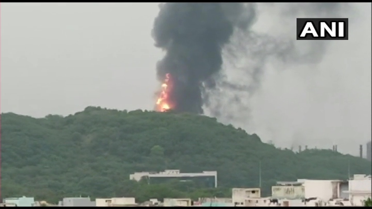 Watch: Major fire breaks out at HPCL plant in Vishakhapatnam