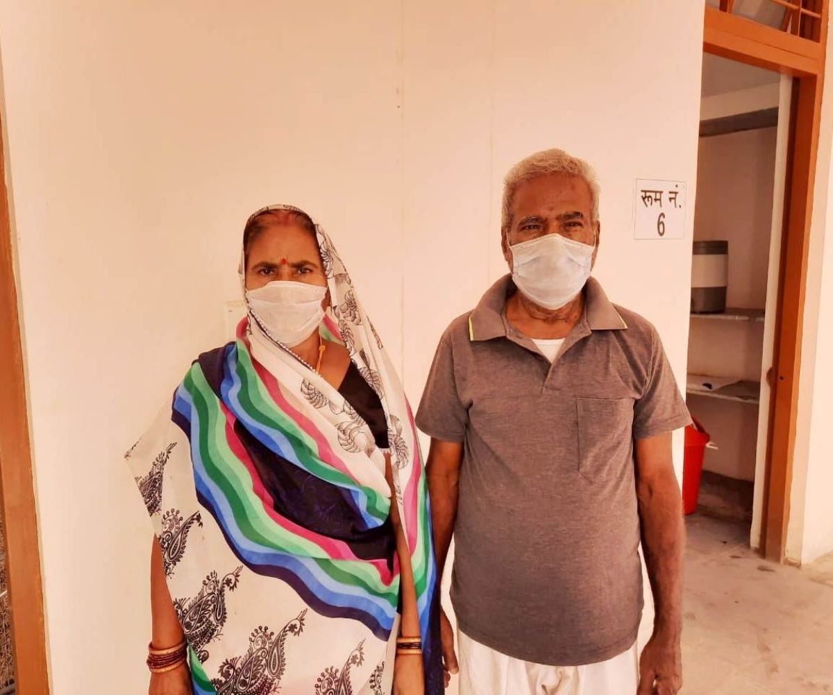 Chandrika Verma, 72 and Sumitra Verma, 65, residents of Deoria district of Uttar Pradesh, were discharged from Covid care centre in Khandwa on Thursday