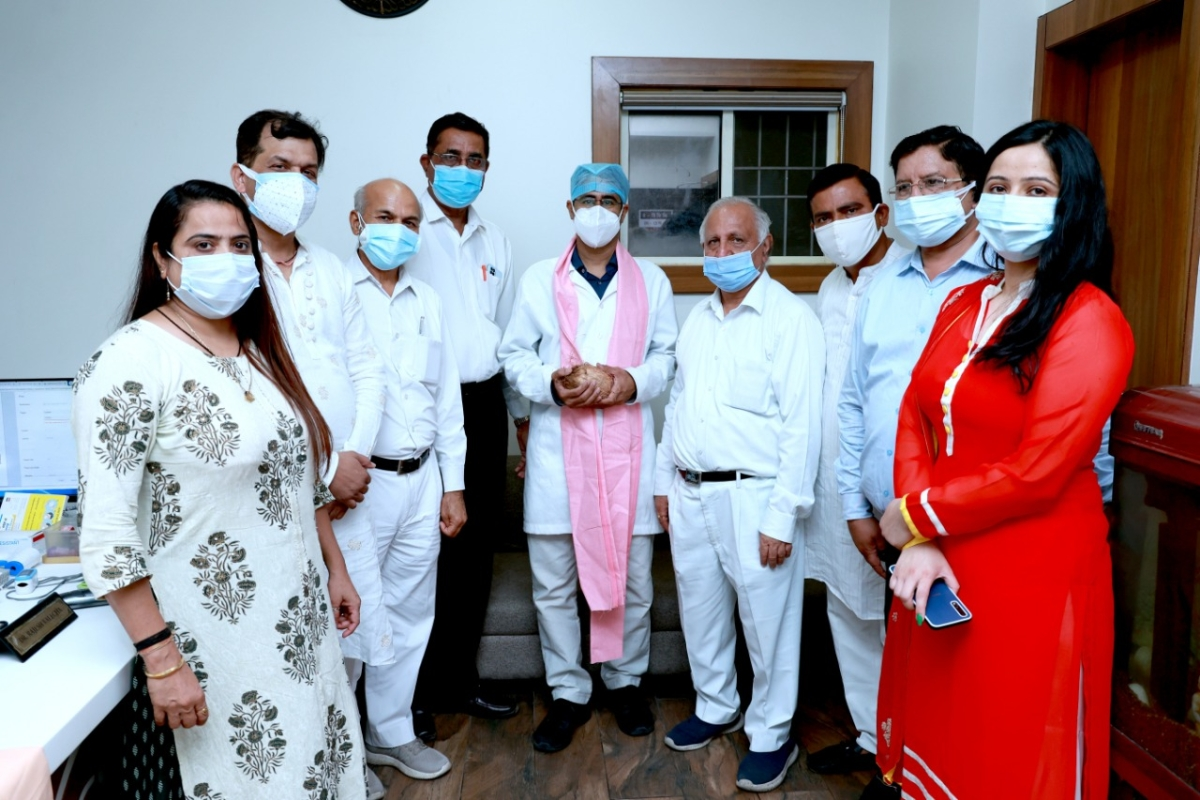 Sewa Sadan Eye Hospital has felicitated six private doctors who are treating Covid patients.