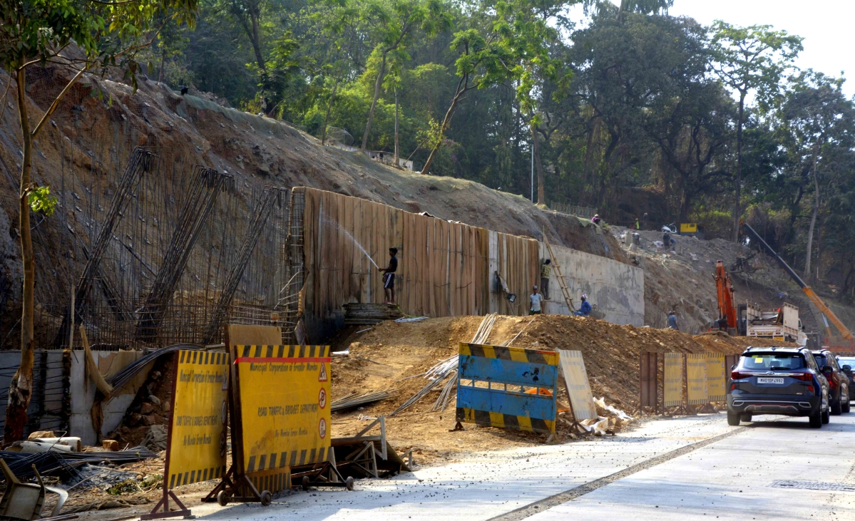 Malabar Hill landslide: 90% work on retaining wall completed