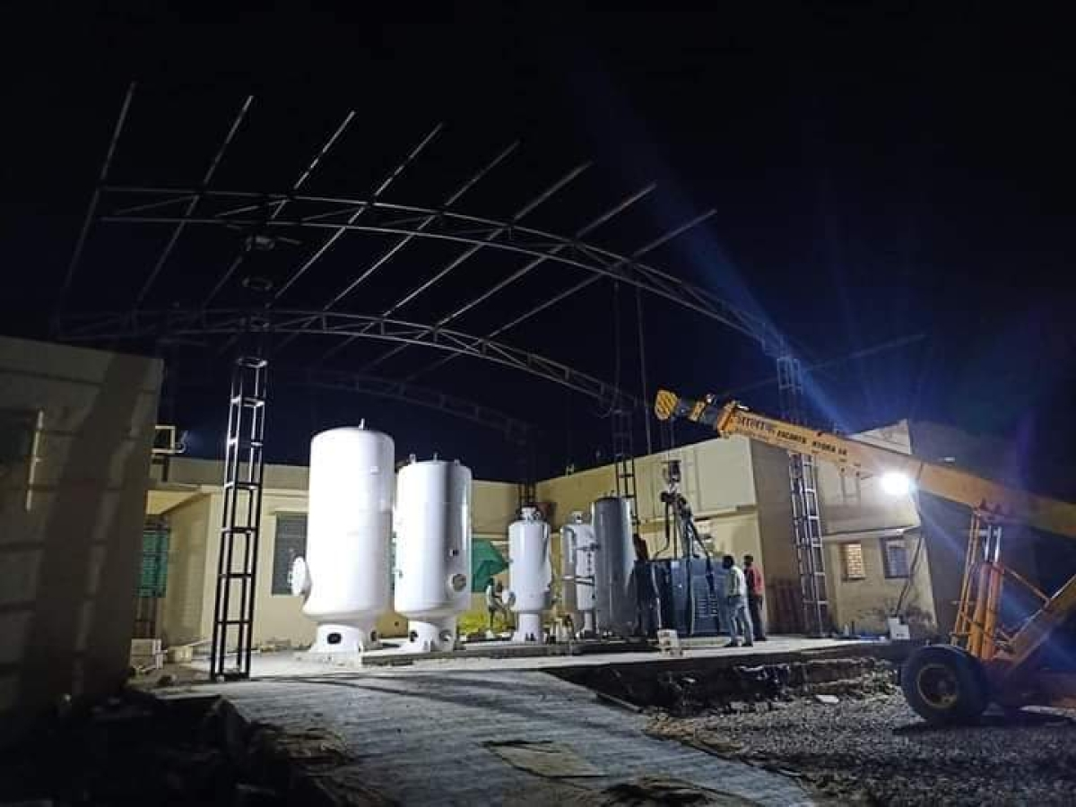 Oxygen plant in Manasa in Neemuch district
