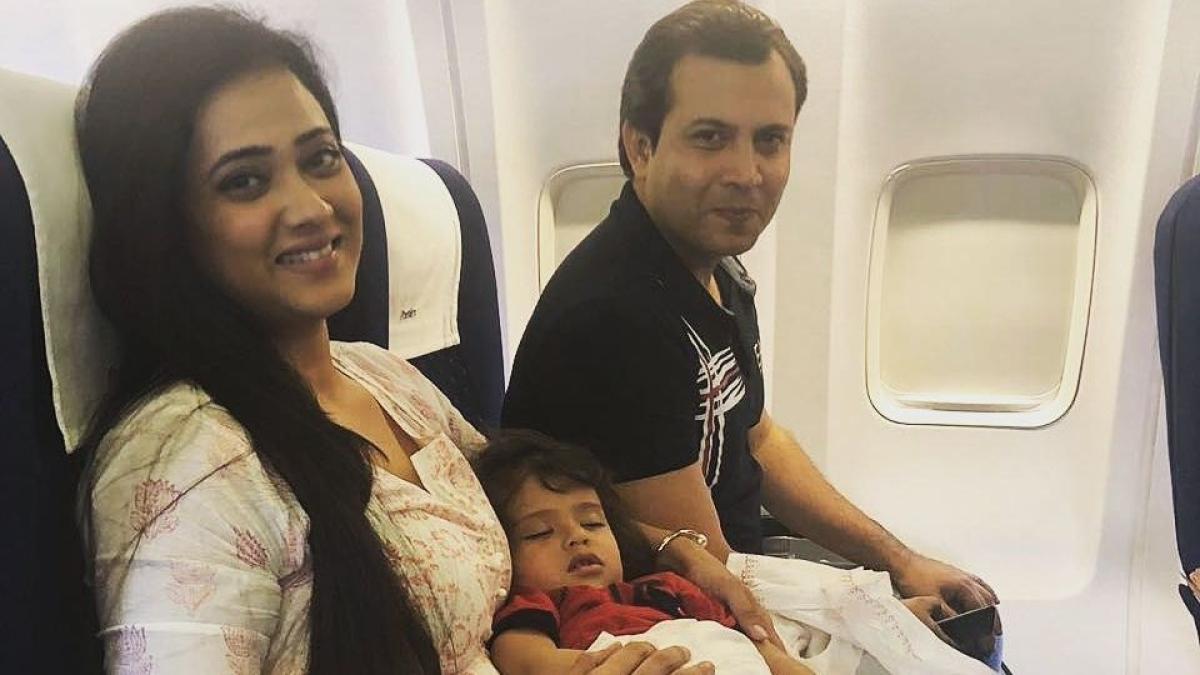 File photo of Abhinav Kohli with Shweta Tiwari and Reyansh