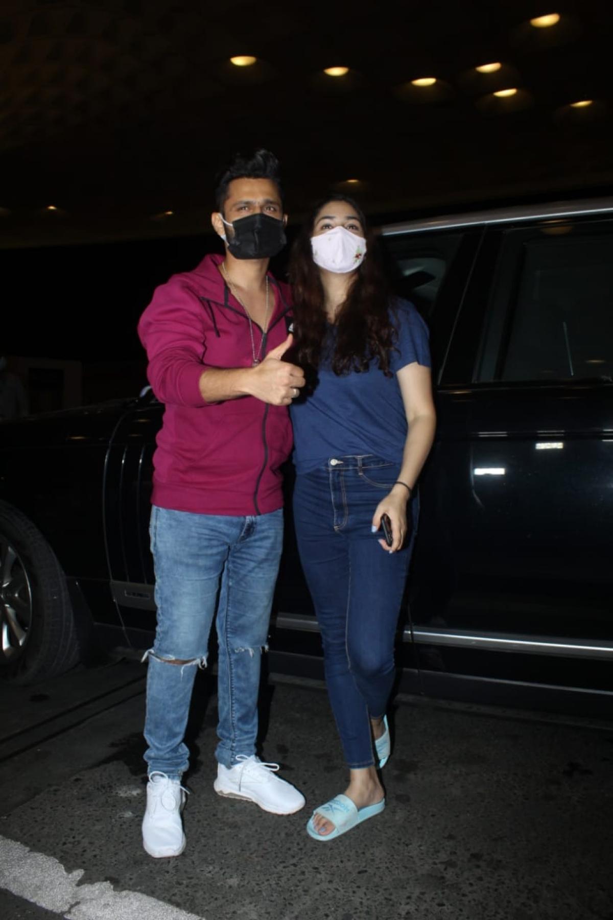 'So much drama for camera': Trolls react to Rahul Vaidya-Disha Parmar's PDA at Mumbai airport