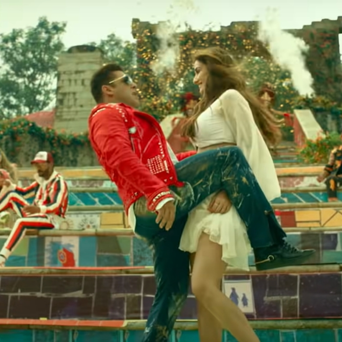 Watch: Salman Khan saves Disha Patani from falling in 'Zoom Zoom' BTS clip during 'Radhe' shoot