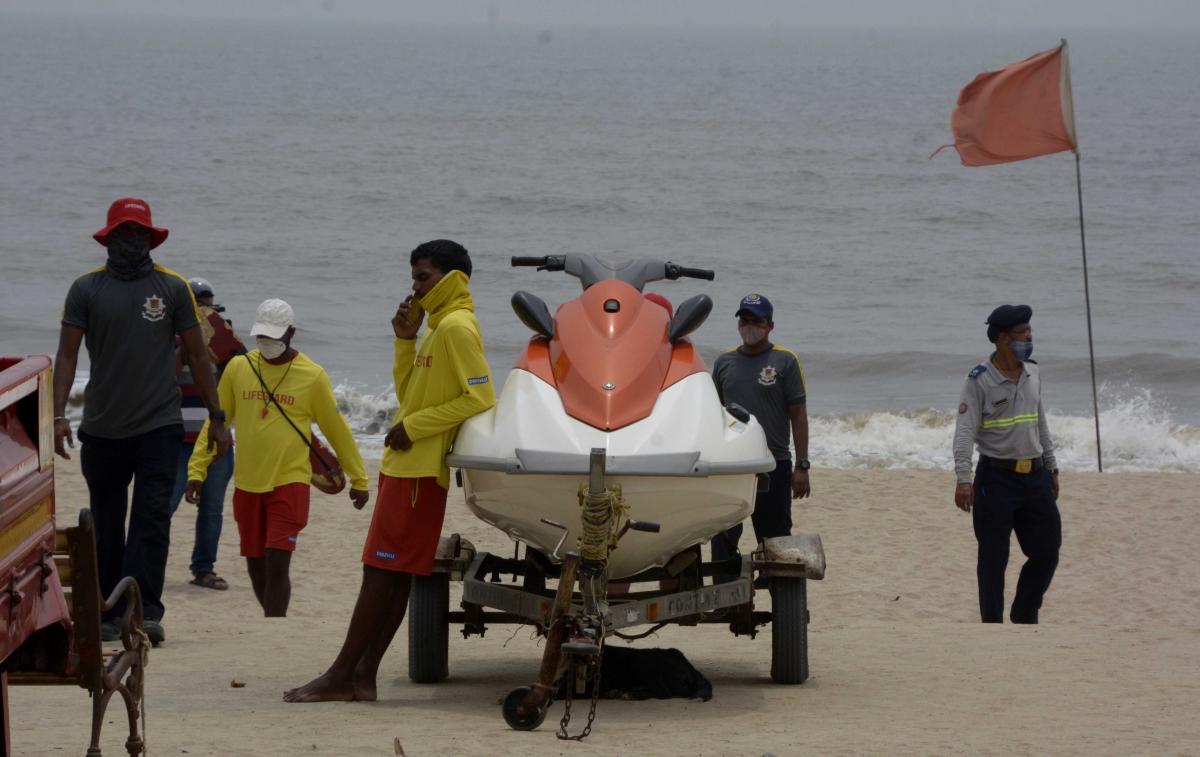 BMC Life guards on alert at Juhu beach.