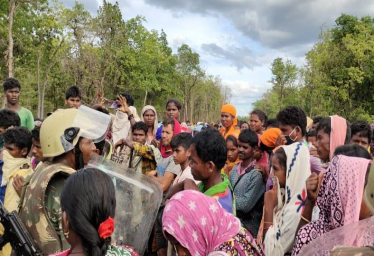 Protests In Chhattisgarh Against The Construction Of Security Camp In The Name Of Roads