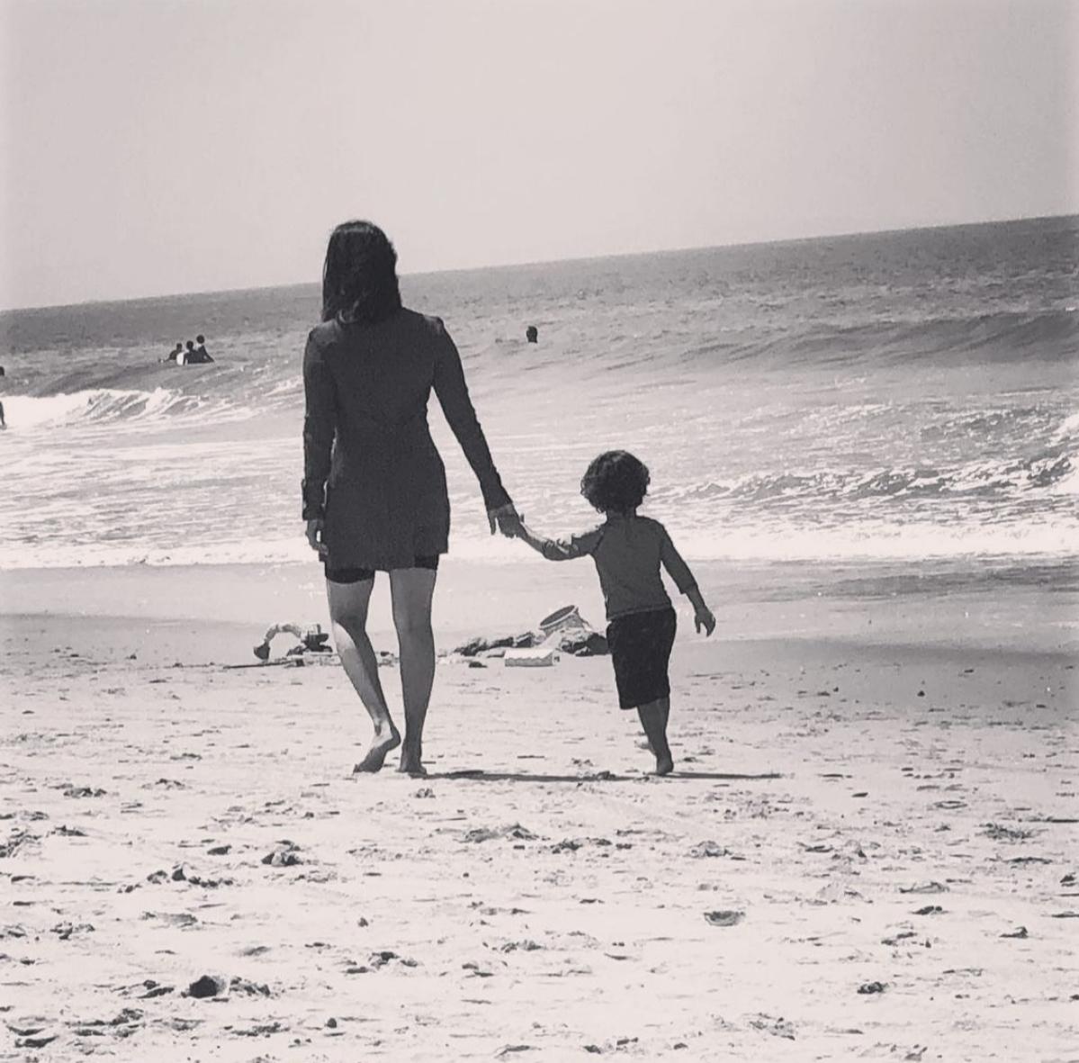 Beach days with Sunny and Noah