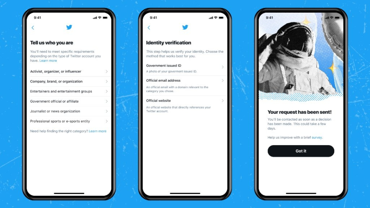 Want to get verified on Twitter? Here's how you can apply