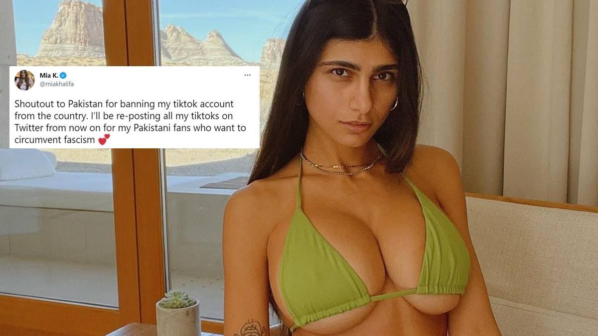Why did Pakistan ban former adult star Mia Khalifa's TikTok account?