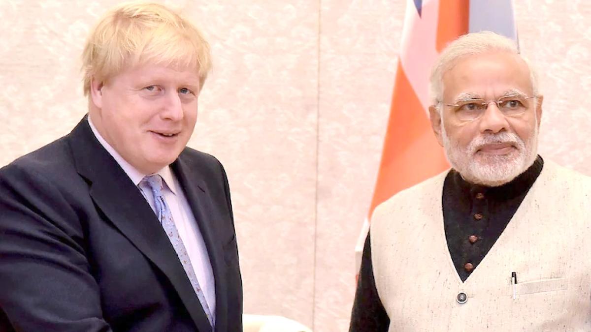 PM Johnson and PM Modi