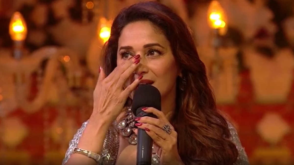 Watch: Madhuri Dixit gets teary-eyed watching a dance performance dedicated to Saroj Khan and her
