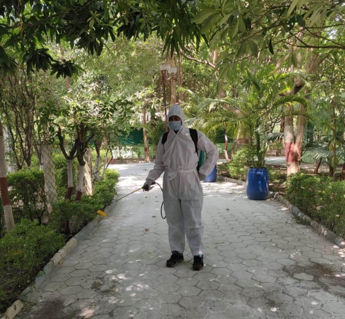 Zoo premises being sanitised