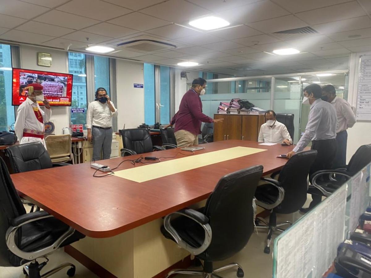 Mumbai: Deputy CM Ajit Pawar reaches Mantralaya control room to take stock of Cyclone Tauktae situation