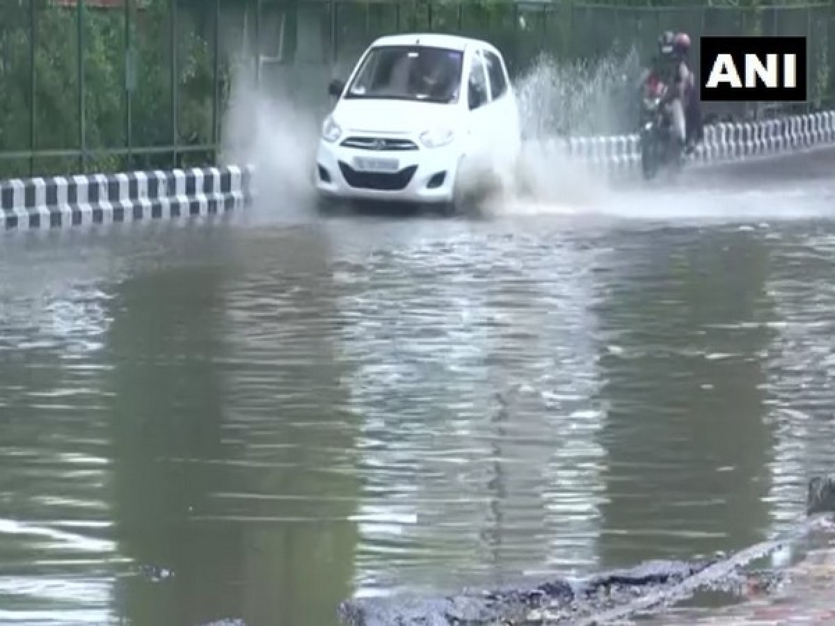 Water logging near Supreme Court in Delhi