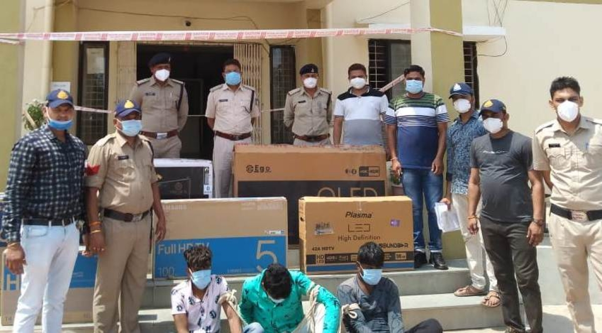 Dhar: 3 arrested in Kukshi with 6 television sets valued at Rs 2.65 lakh, case solved in 11 days
